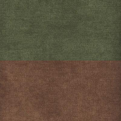 Вельвет зеленый коричневый