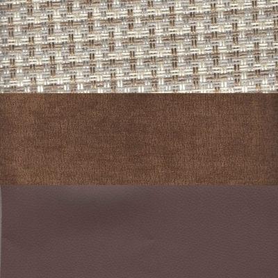 Корфу 02 вельвет коричневый экокожа коричневый
