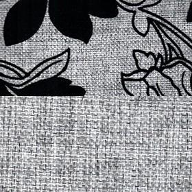 Шенилл Мальта серая цветы и Мальта серая ком