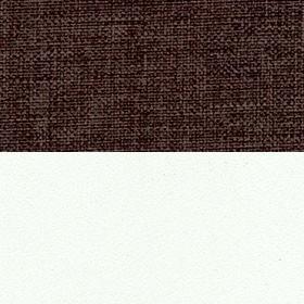 Рогожка Savana chocolate и ЛДСП белый матовый
