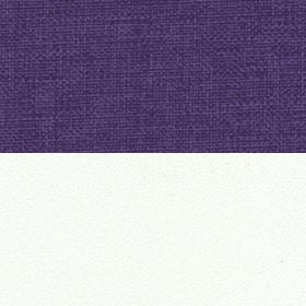 Рогожка Savana Violet и ЛДСП белый матовый