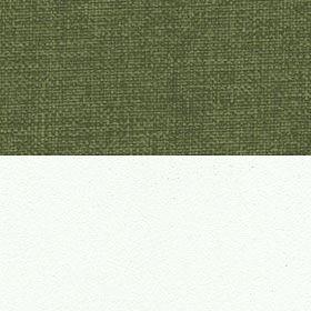 Рогожка Savana Green и ЛДСП белый матовый