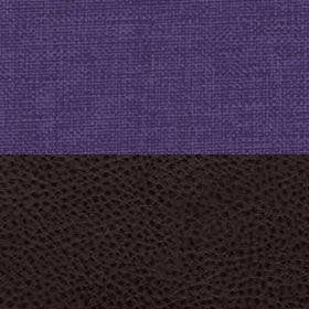 Рогожка Savana violet и Экокожа Полярис шоколад