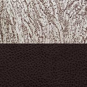 Замша бежевая узор и экокожа Поларис шоколад