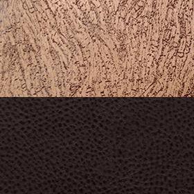 Замша коричневая узор и экокожа Поларис шоколад