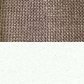 Рогожка Savana Latte и ЛДСП белый матовый
