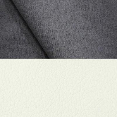 велюр MIX pln 09 серый + Иск. кожа Arena 050 White