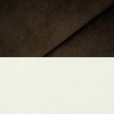 велюр MIX pln 22 коричневый + Иск. кожа Arena 050 White