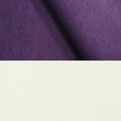 велюр MIX pln 16 фиолетовый + Иск. кожа Arena 050 White
