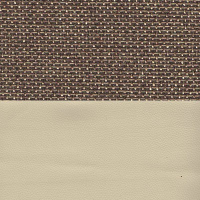 Рогожка коричневый Экокожа бежевый